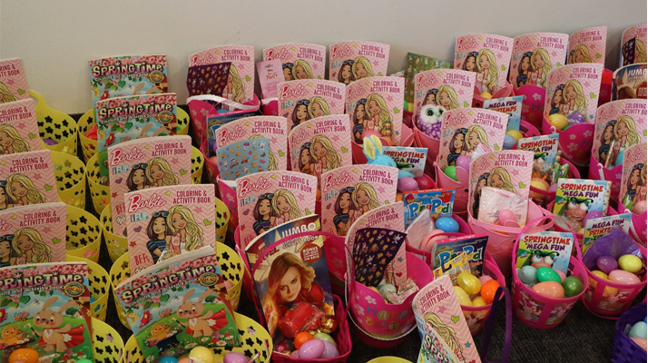 Barge Berkley Chiropractic Clinics drive by easter baskets