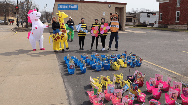 Barge Berkley Chiropractic Clinics drive by easter staff